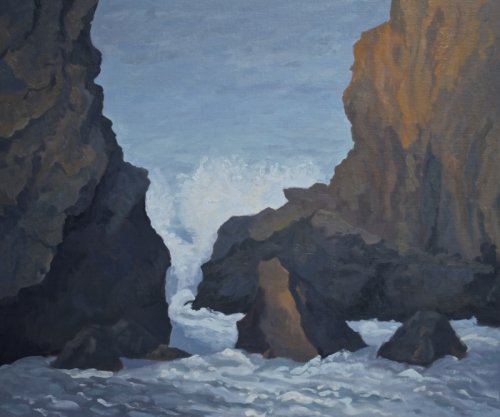 Wave and Rocks, Big Sur, California