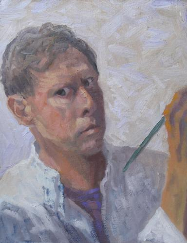 Self-Portrait in a White Shirt