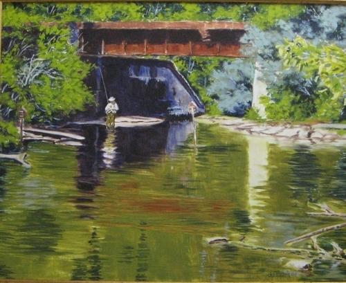 The Pool under the Railroad bridge, Springbrook