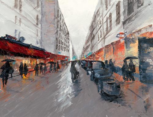 Rain on Rue Cler