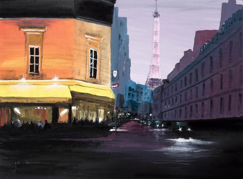 Dusk in Rue Cler