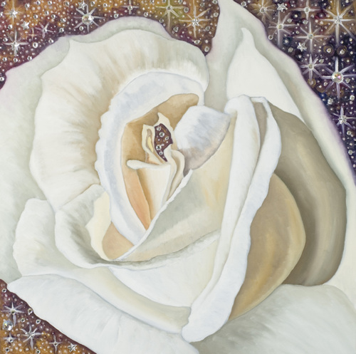 """The White Rose in the Cosmos"" by John Krautsack"