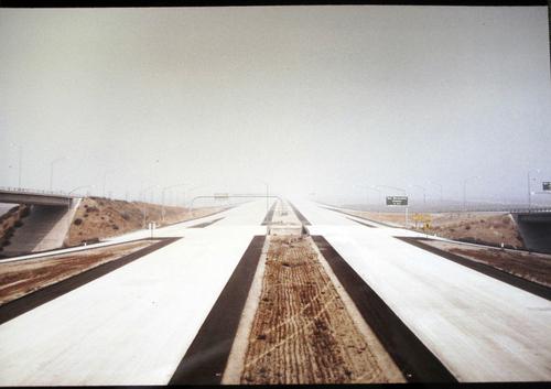 San Bernardino Avenue Exit. Freeway under construction by John Counter