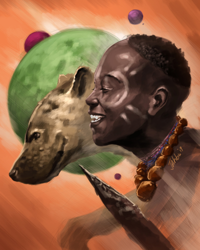 Boy and the hyena