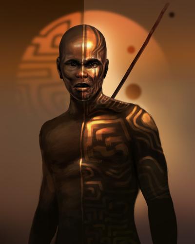 The Golden Nuba Warrior