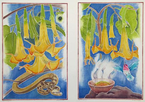 Angel Trumpets I & II (large view)