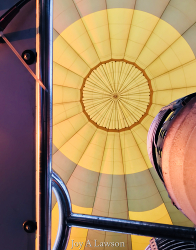 Interior of hot air balloon