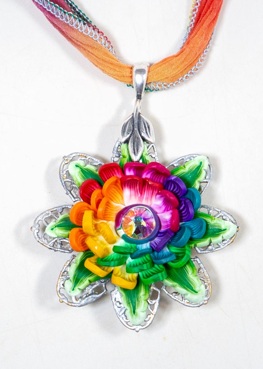 Pride Petals Large Rainbow Pendant (large view)