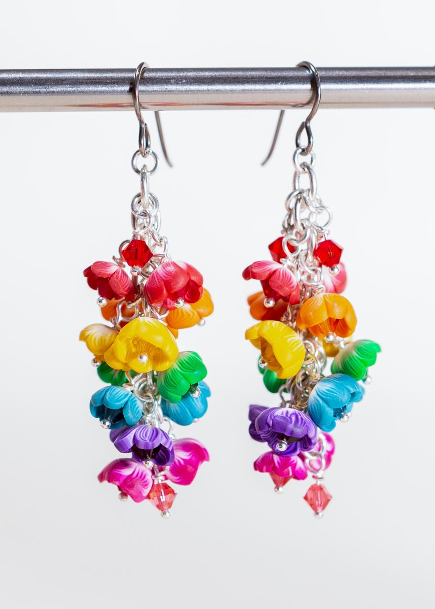 Pride Petals Fairy Tassel Earrings (large view)