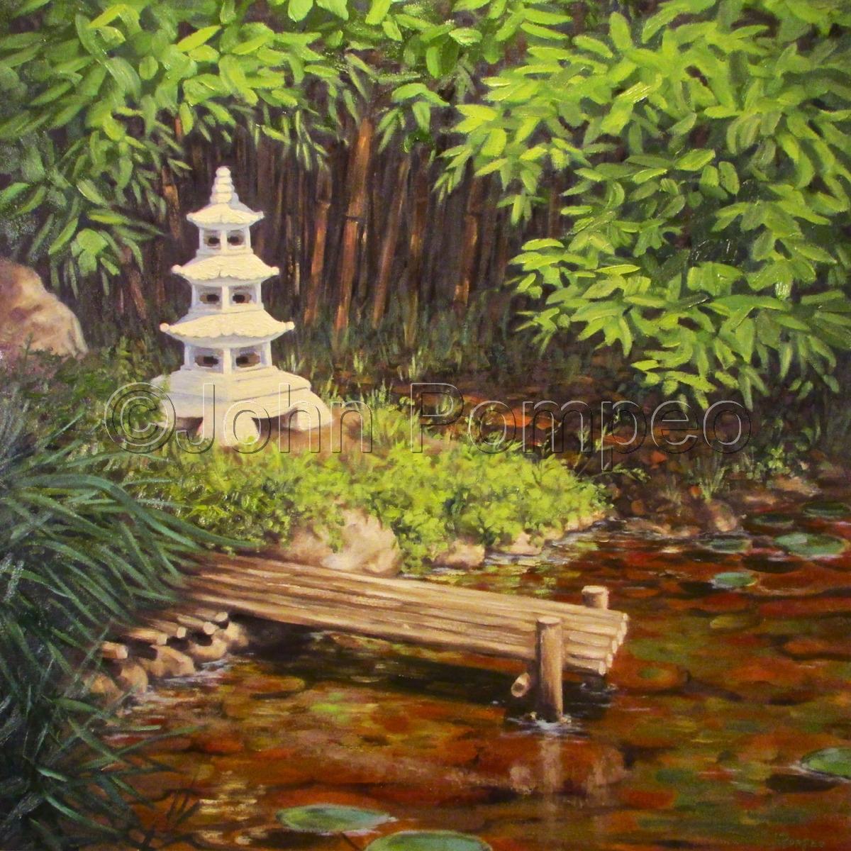 Painting Quot Zen Garden Quot Original Art By John Pompeo