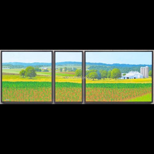 Strasburg Farm Triptych by John Pompeo