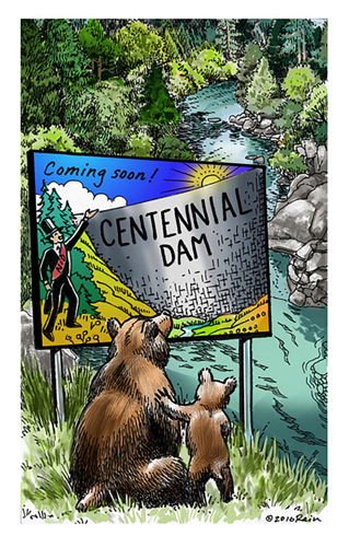Centennial Dam call to action illustration
