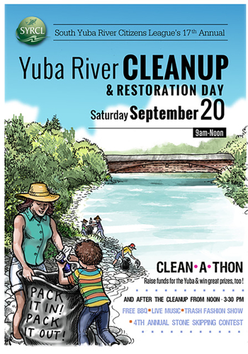 Annual River Clean Up poster illustration
