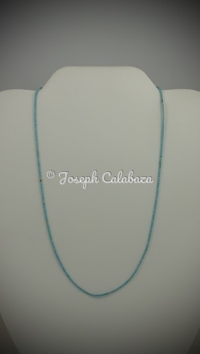 Single strand Super Fine Turquoise Heishi necklace