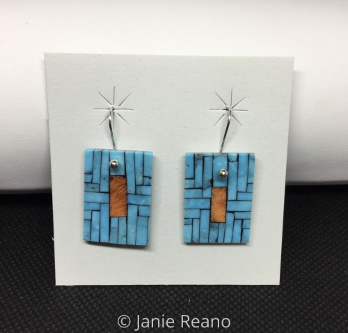 Turquoise and Spiney oyster earrings