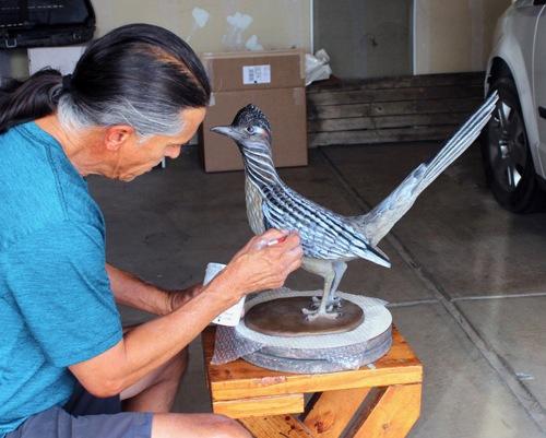 Work in Progress: Don't Blink by Jeff Roller Pottery & Sculpture