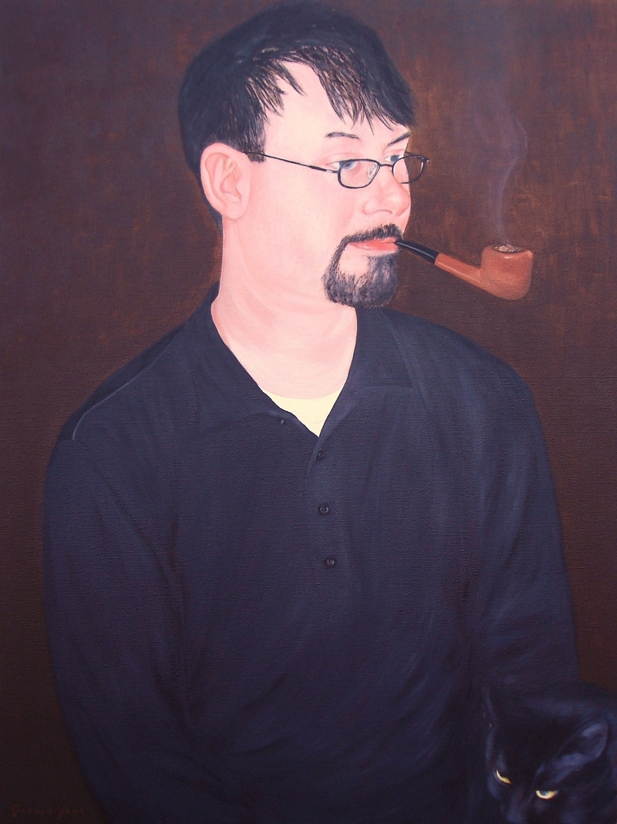 Man with Pipe (Portrait of Dr. Jonathan David York) (large view)