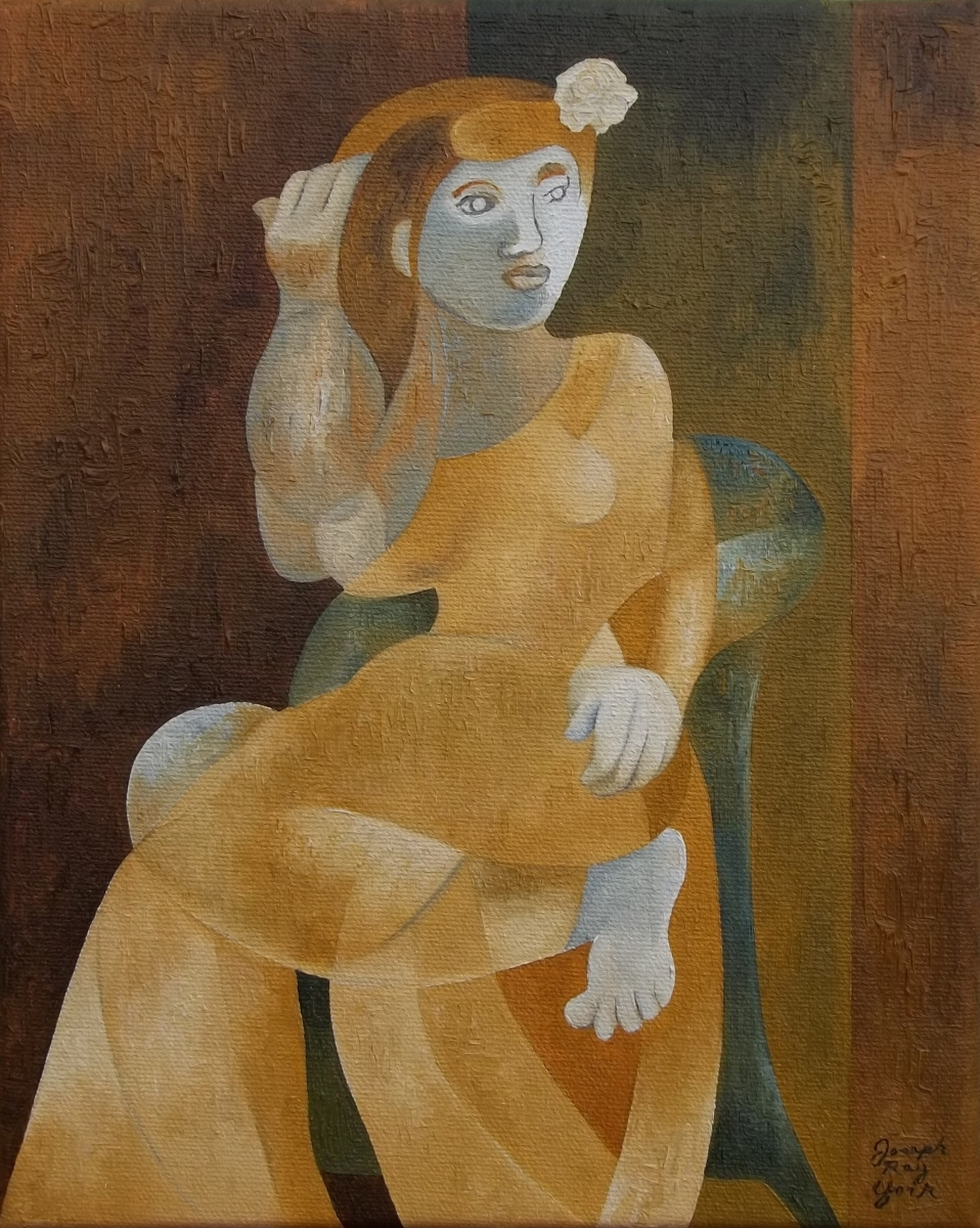 Young Woman In An Armchair (large view)