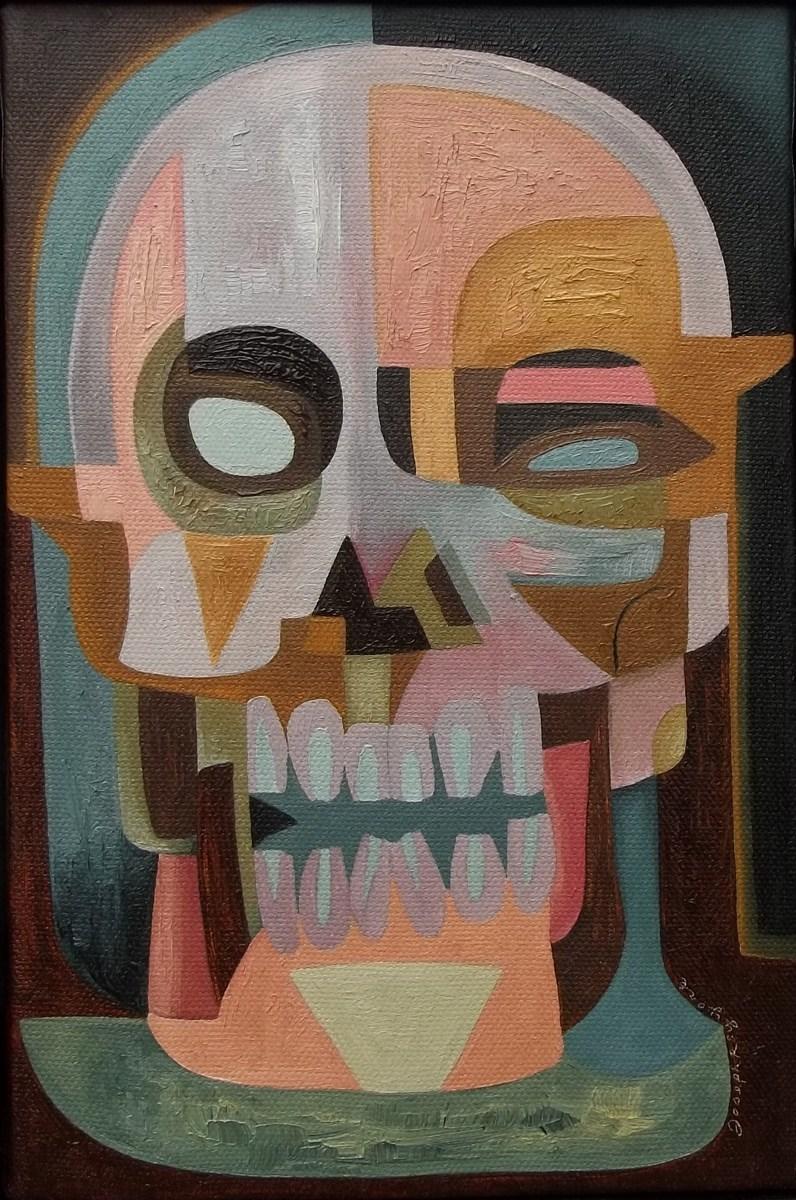 Abstract Skull #188 (Rainy Day Skull) (large view)