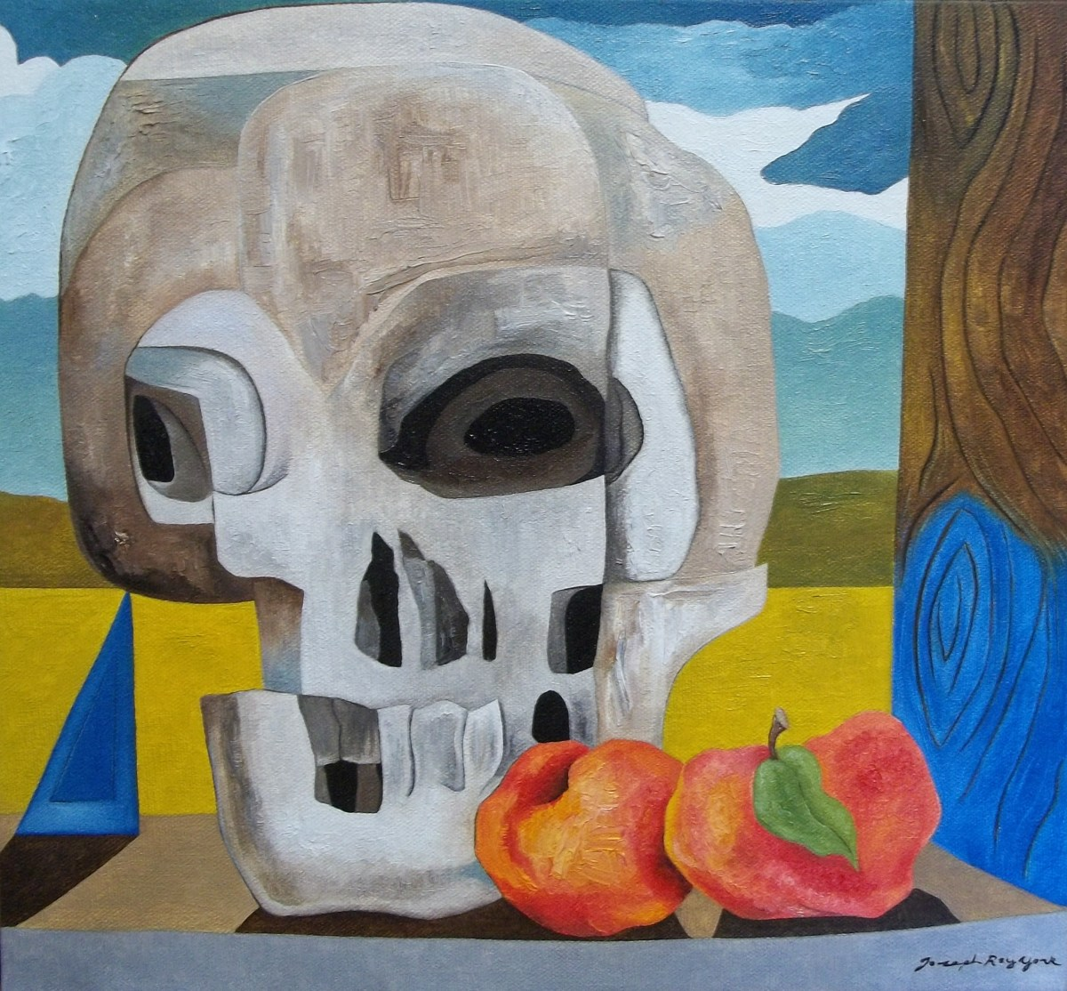 Skull and Peaches (large view)