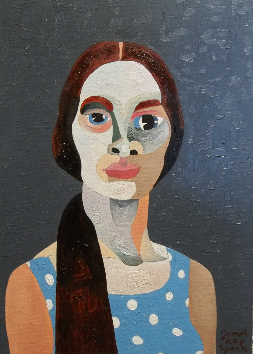 Portrait: Woman In Polka-dot Blue (large view)