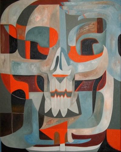 Abstract Skull #148 (Thinking Skeleton)