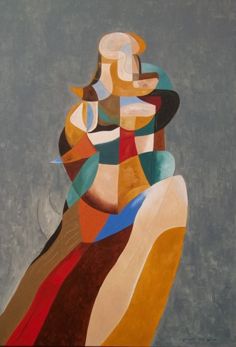 Woman In A Colored Skirt