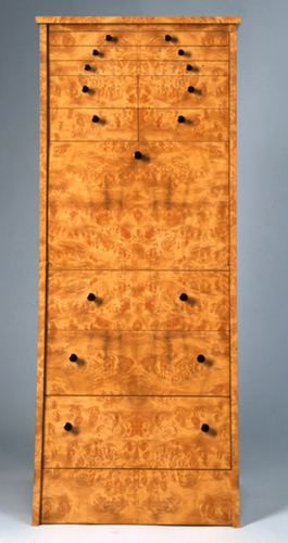 Burl Lingerie & Jewelry Cabinet (large view)