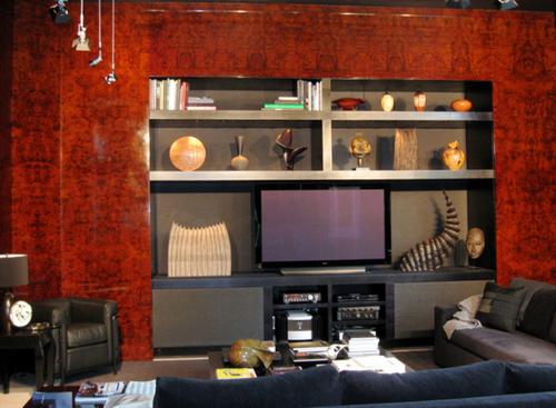 Veneer paneled living room (large view)