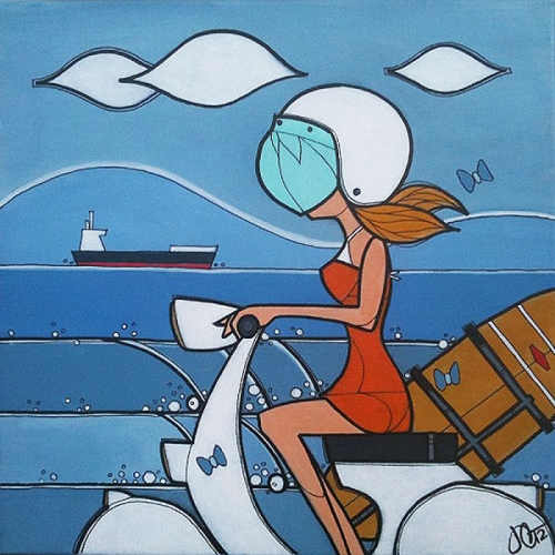 Vespa Surf Girl