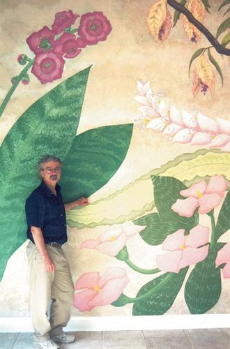 Mural / Floral and Artist (large view)