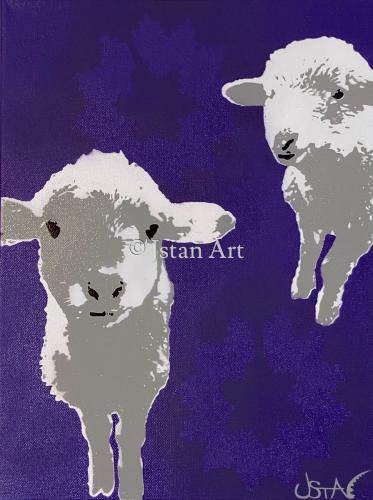Navajo Lambs by Jstan Art Gallery