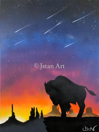 Buffalo Seeking Prayers by Jstan Art Gallery