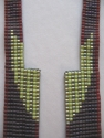 loom woven bead necklace made with Japanese glass seed beads. (thumbnail)