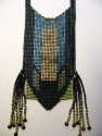 Loom woven bead necklace with side fringe. Made from Japanese square cut glass seed beads (thumbnail)