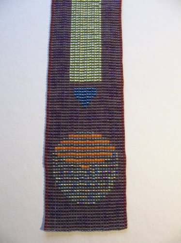 loom woven bead necklace made with Japanese glass seed beads. (large view)