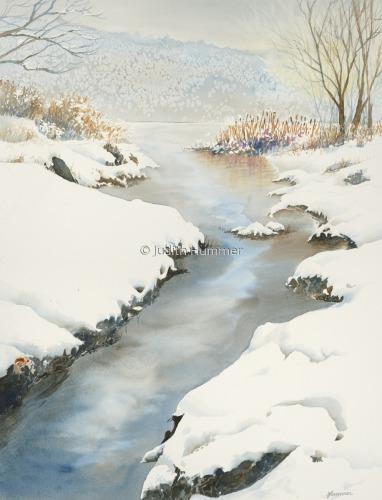 Snowy Marsh I