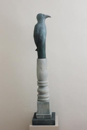 Bird Totem ll by Judith Veeder
