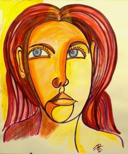 Color Line Sketch: Judy