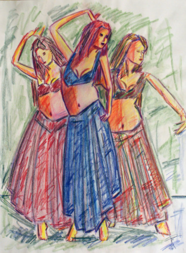 Sketch of Three Dancers