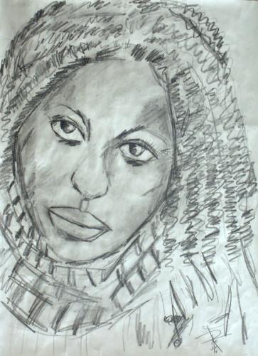 Sketch of a Black Woman