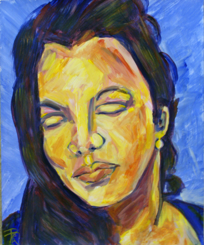 Channeling Lucian Freud: AngelaMarie in 4 colors