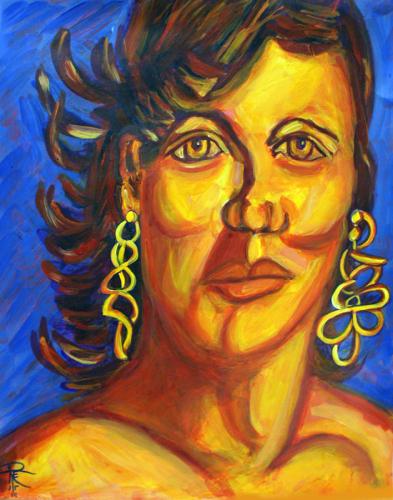 Channeling Lucian Freud: Angela's Earrings