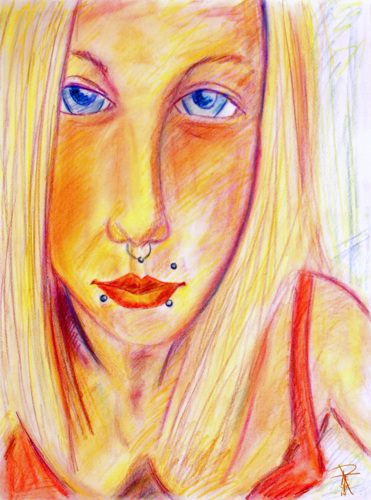 Portrait of Erin H. with Piercings