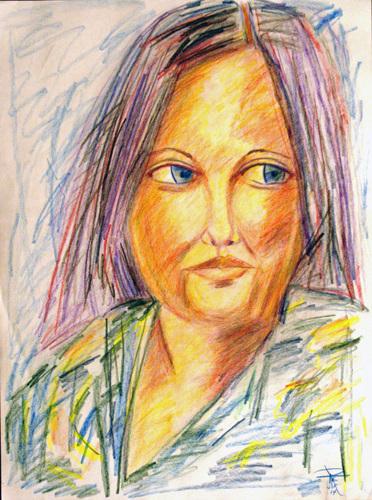 Colour Sketch: Sarah's Friend