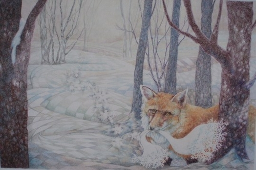 Fox In Snow by Judy Freidel