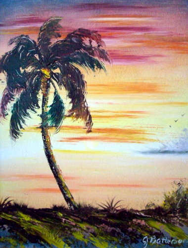 Sunset Palm by Judy Batterson