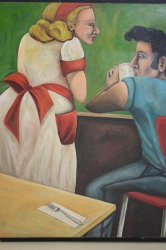 Diner - Truck Stop Elvis by Judy Horowitz