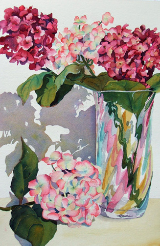 Hydrangeas in Vase (large view)