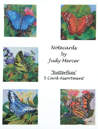 Butterfly Notecard Assortment (large view)